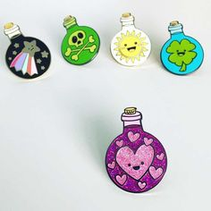 Potion Bottle - LOVE - Hard Enamel Pin by Birdhouse Press