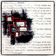Hidden Agenda: Make Black Out Poetry, Black Out Poetry, Poetry