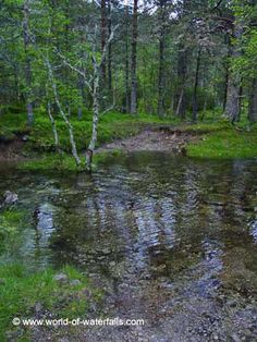 Flooded part of the trail, Ullensvang Municipality / Kinsarvik, Hordaland County, Norway