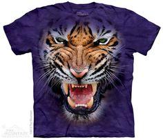 PRIKID - Growling Big Face Tiger T-Shirt, €37.00 (http://prikid.eu/growling-big-face-tiger-t-shirt/)