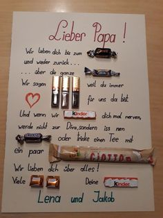 Vatertag Vatertag The post Vatertag appeared first on Geschenke ideen. Vatertag Vatertag The post Vatertag appeared first on Geschenke ideen. Diy Gifts For Boyfriend, Gifts For Mum, Gifts For Family, Fathers Day Gifts, Presents For Dads, Present Boyfriend, Mum Birthday Gift, Diy Birthday, Birthday Presents
