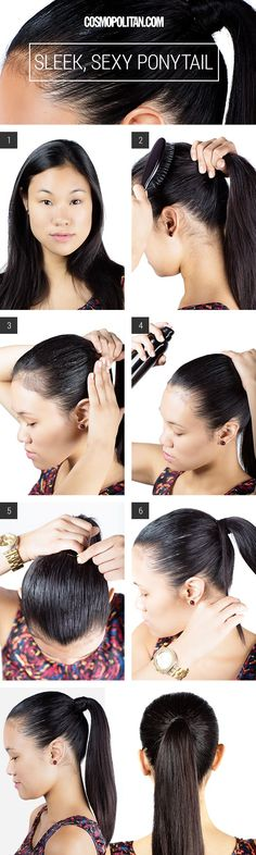 sleek sexy ponytail #hair #easy #lovehair #ponytail #sexy