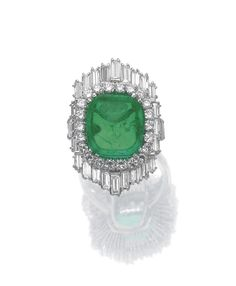emerald and diamond ring | Sotheby's