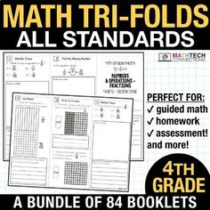 fourth grade guided math small group instruction resources for math workshop 4th Grade Math Test, Fourth Grade, Number Words Chart, Guided Math Groups, Math Textbook, Math Word Walls, Math Assessment, Math Intervention, Math Words