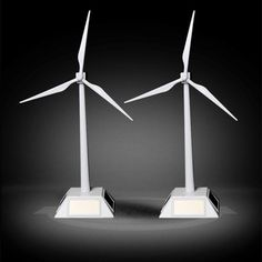 New Arrival Solar Windmill Toys Plastic Assembled Model 3D Puzzle Assembling Solar Powered Windmill Best Gift For Kids Friends