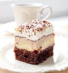 Mistrzowskie Gotowanie: Ciasto bananowiec Easy Cake Recipes, Sweet Recipes, Dessert Recipes, Xmas Recipes, Food To Go, Food And Drink, Banana Coffee Cakes, Slovak Recipes, Xmas Food