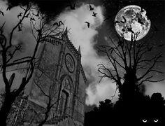Halloween Cards - Free Halloween eCards, Greetings for 2017 Halloween Moon, Halloween Tags, Halloween Horror, Vintage Halloween, Vintage Holiday, Good Night Moon, Dark Night, Full Moon Tonight, Happy Halloweenie