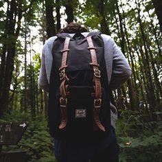 Adventuring in Herschel Little America Bag