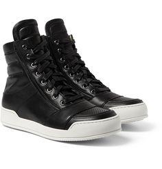 Balmain - Leather High Top Sneakers  MR PORTER