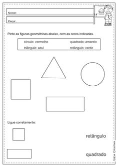 Atividades Educativas Figuras Geométricas Matemática 3° ano Fundamental