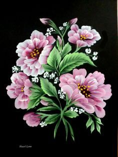 one stroke painting flowers - Buscar con Google
