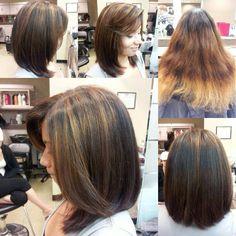 Before & After color & hi-lights, by Marina at Belk Salon & Spa Orange Park Mall