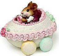 Wee Forest Folk - Mousey's Easter Egg car. For sale on Ruby Lane.