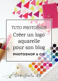 Créer un logo aquarelle pour son blog