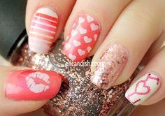 Nail art para las chicas enamoradas - http://xn--decorandouas-jhb.net/nail-art-para-las-chicas-enamoradas/
