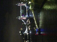 Tower Bridge, HMS Belfast and the Olympic Rings all lit up at night - beautiful! #London2012 #TowerBridge #London