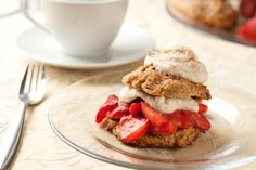 Strawberry Cinnamon Shortcake Sandwiches (Vegan, Gluten free, Dairy free, Refined sugar free, Yeast free, Corn free)