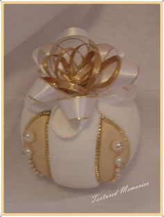 Pearls in gold by TexturedMemories on Etsy, $45.00
