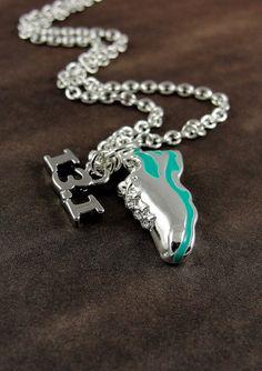 Half Marathon Running Shoe Necklace Silver by treasuredcharms, $12.00 ~ need this when I get to half marathon length in my run!