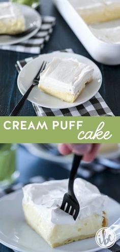 There is so much to love about this Cream Puff Cake! It makes a great #dessert #recipe to serve for #Easter or any #spring and #summer #celebration.