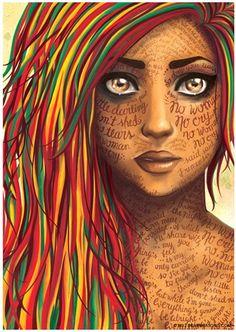 No Woman No Cry (Bob Marley) - Affiche Illustration - Format x Arte Bob Marley, Bob Marley Songs, Song Lyrics, Reggae Music, Cry Drawing, Jah Rastafari, We Will Rock You, Art Plastique, Fan Art