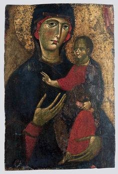 Master of St Agatha  Icon: The Blessed Virgin and Child  Italy, 13th century