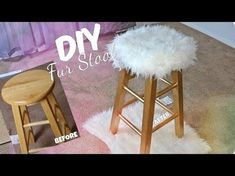 DIY GOLD FUR STOOL, EASY & AFFORDABLE, My Crafts and DIY Projects
