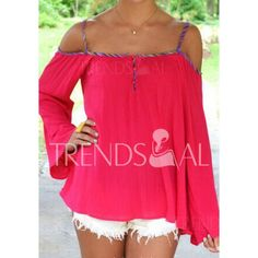 Wholesale Stylish Spaghetti Strap Long Sleeve Backless Women's Blouse Only $8.22 Drop Shipping | TrendsGal.com