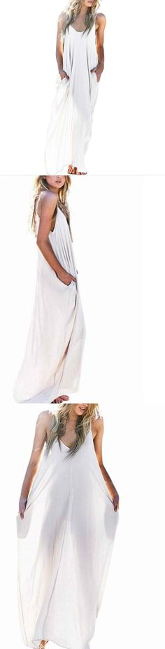 White Maxi Long Dress! Click The Image To Buy It Now or Tag Someone You Want To Buy This For. #WhiteMaxiDress