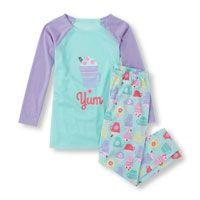 Long Sleeve 'Yum' Top and Pants PJ Set Girls Sleepwear, Pajama Party, Big Fashion, Pj Sets, Nightwear, Night Gown, Girl Outfits, Pajamas, Graphic Sweatshirt