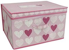Blush Pink Hearts Jumbo Storage Chest Pop Up Foldable Box Toy Girls Bedroom Pink Storage Boxes, Toy Boxes, Storage Chest, Different Shades Of Pink, Toys Shop, Girls Bedroom, Pop Up, Blush Pink, Cleaning Wipes