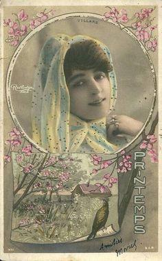 Villars.  Reutlinger Postcards. Printemps.  SIP Series 971