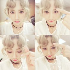 SNSD TaeYeon displays her cute bangs in her latest SelCa pictures