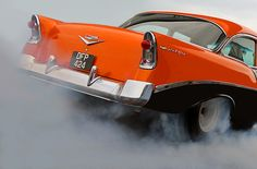 Orange And Black '56 Chevy