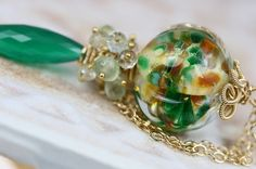oOo SALE oOo  50 off  Glass Lampwork Gemstone by JewelsByLDesigns, $125.00