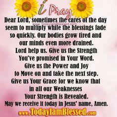 I Pray...