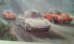 SIGNED AND NUMBERED PRINT OR PAINTING. PORSCHE PEDIGREE #236/911  #HandmadeANDHEAVYDUTYFRAME #UNSUREHOWTOCLASSIFY