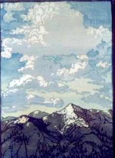 Gravure Illustration, Illustration Art, Landscape Art, Landscape Prints, Woodblock Print, Art Prints, Block Prints, Japanese Art, Painting & Drawing