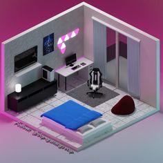 Bedroom Gaming Setup, Gamer Bedroom, Computer Gaming Room, Bedroom Games, Gaming Rooms, Video Game Bedroom, Small Game Rooms, Game Room Design, Game Room Decor