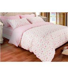 Pretty Pink Bowtie Print 3-Piece 100% Cotton Duvet Cover Sets