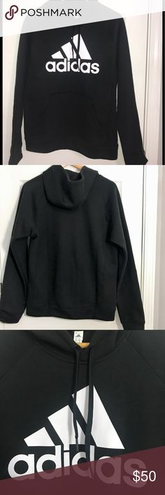 Black Adidas Hoodie Size Small ADIDAS BLACK PULLOVER HOODIE, Men Size Small\ {Women size S/M can fit this hoodie}  *Brand New with Tags *No Flaws *70% Cotton 30% Polyester  *Adidas Sport Logo introduced in 1997 *Soft Fleece *Has a fKangaroo pocket. adidas Jackets & Coats