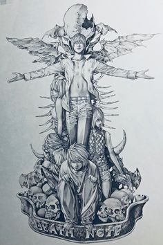 Death Note illustration by Takeshi Obata, via the art book of the Never Complete exhibit Death Note Kira, Death Note Fanart, Death Note Light, Otaku Anime, Anime Art, Manga Covers, Anime Scenery, Animes Wallpapers, Aesthetic Anime