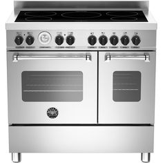 Bertazzoni Master Series Electric Range Cooker with Induction Hob - Stainless Steel - A+/A Rated - - 1 Range Cooker Kitchen, Induction Range Cooker, Electric Range Cookers, Electric Oven, Stainless Steel Appliances, Kitchen Appliances, Kitchens, Bertazzoni Range, Vejle