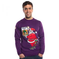 Play the game and try find the elf, this tacky Christmas Jumper is guaranteed to entertain on Christmas Party nights out.