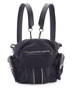 Marti Mini Nylon/Leather Backpack, Neptune, Neptun - Alexander Wang