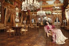 The rooms and halls were decorated with ornate furniture, handcrafted tapestries, and brocade from France.