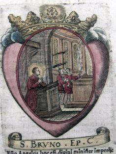 1630 CA Original Saint Bruno of Cologne Koeln Holy Card Hand Colored | eBay