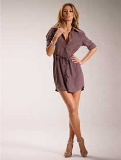 gotta love a shirt dress, so classy, easy, and effortless.  Get it at M@nneqjin at Salon DeLange.