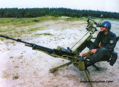 """12.7 мм пулемет НСВТ  """"Утес"""" на зенитном  станке на  вооружении морской пехоты"""