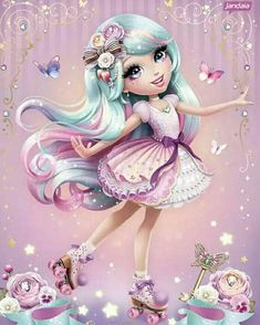 Pop Art Girl, Fairytale Art, Girly Pictures, Sanrio Characters, Eye Art, Cute Images, Animated Gif, Character Inspiration, Fantasy Art